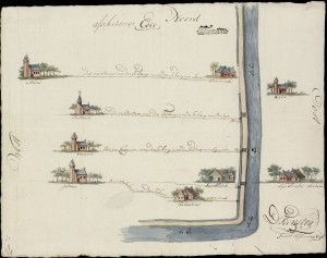 Kaart van Feenstra uit 1798