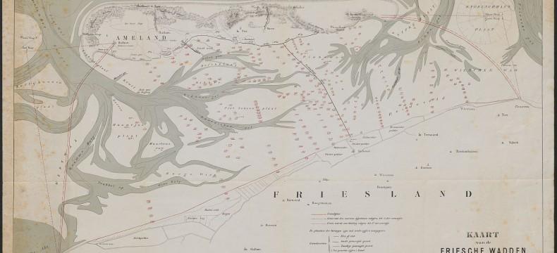 Kaart Waddenzee 1879