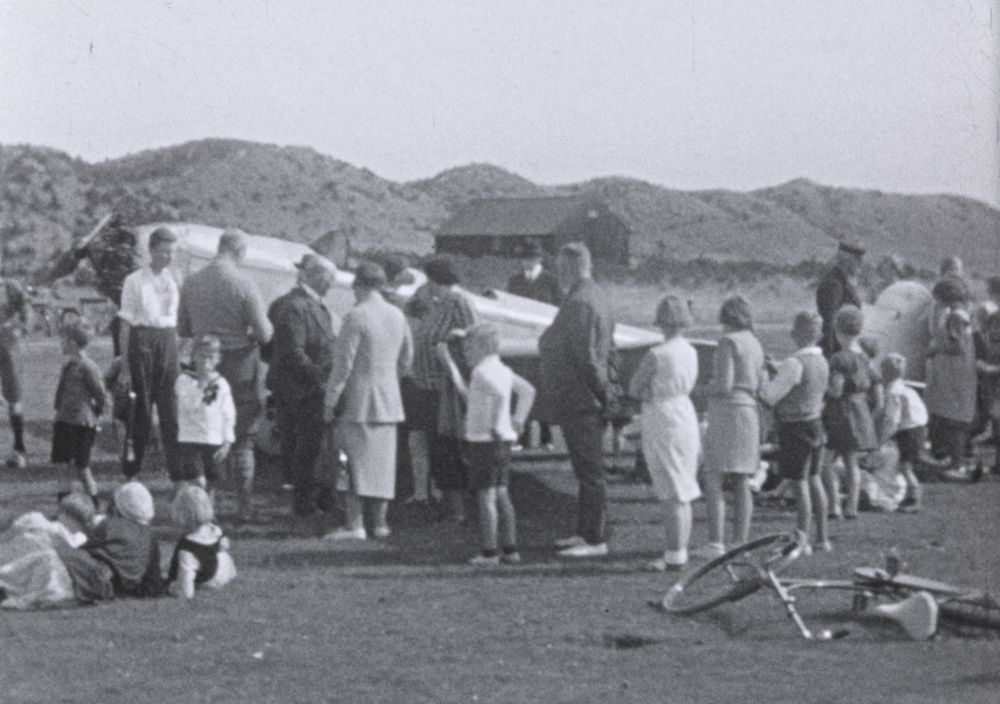 Vliegtuig Vlieland jaren '30