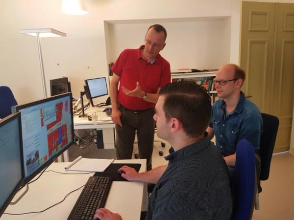 Vlnr Hans Mol, Thomas Vermaut, Theo Delfstra